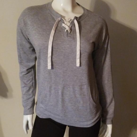 Sonoma Tops - Thin Long Sleeve Sweatshirt Gray Tee Size S